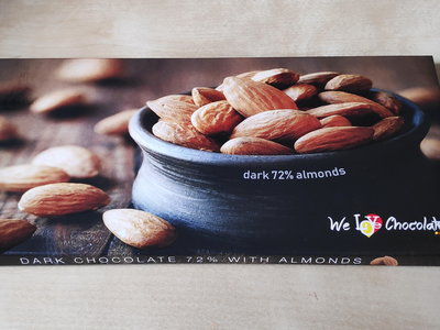 Chocolate bar 100g  DARK 72% ALMONDS