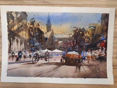 Watercolour in Bruges  with Valery Kruchkovski
