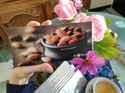 10x Chocolate bar 100g  DARK 72% ALMONDS